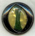 Celluloid Glow Bubble & Metal Large Button