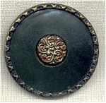 Antique Celluloid Perforate Stick-up Button.