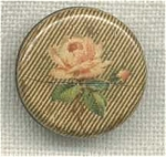 Vintage Printed Rose Celluoid Tight-top Button.