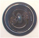 Vintage Large Celluloid Squiggle Button