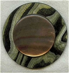 Large Art Deco Celluloid And Shell Button