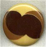 #1 Germany Celluloid Tight Top Button Pre-ww2