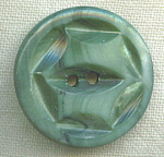 Green Carved Shell Mother Of Pearl Button