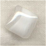 La Mode Square White Moonglow Button