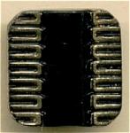 Square Black Glass Button