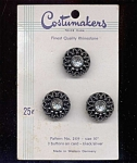 Costumakers W. Germany 3 Black Buttons