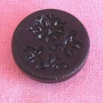 Victorian Black Glass Mourning Button
