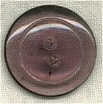 Light Purple 2 Hole Clear Glass Button