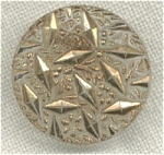 #1 Clear Glass Button With Gold Design