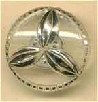 Clear Button With Raised Silver Overlay
