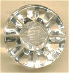 Clear Glass Button With Molded Pattern Self Shank