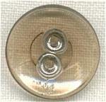 Amber Transparent Glass Button