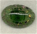 Oval Green Transparent Button