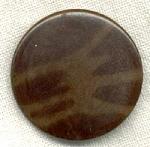 Vintage Brown Vegetable Ivory Button