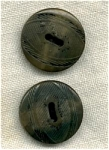 2 Green Tinted Vegetable Ivory Buttons