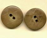 2 Vegetable Ivory Buttons Diamond Design
