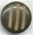 Deep Grooved Vegetable Ivory Button