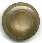 Vintage Vegetable Ivory Button Concave