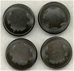 4 Lacey Vegetable Ivory Buttons