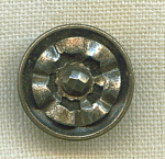 1 Piece Metal Button With Riveted Cut Steels.