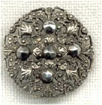 Victorian Stamped Filigree Button Cut Steels