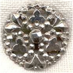 Victorian Clover Stamped Steel Button