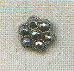 Antique Flower Cut Steel Small Button
