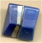 Traingle Shaped Blue Glass Button