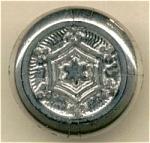 Vintage Black Glass Button Silver Lustre