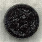 Victorian Black Glass Incised Button.