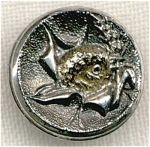 Victorian Bird With Wheat Lustre Button