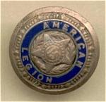 American Legion Brass Button With Blue Enamel