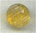 Yellow Transpartent Glass Button Diminutive