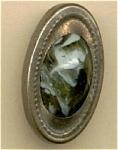 Victorian Cuff Button Varigated Green Stone