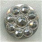 #8 Victorian Black Glass Lustre Button