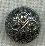 #9 Victorian Black Glass Lustre Button