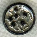 #4 Victorian Silver Lustre Black Glass Button