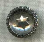 #5 Victorian Luster Star Black Glass Button
