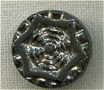 #6 Victorian Silver Lustre Black Glass Button
