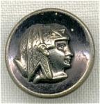 Egyptian Queen 3 Piece Vintage Button.