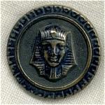 Egyptian King 2 Piece Metal Button.