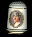 #1 Florence Harding Thimble Franklin Mint First Lady