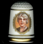 #1 Lou Hoover Thimble First Lady Franklin Mint