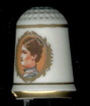 #1 Mary Mcelroy First Lady Thimble Franklin Mint