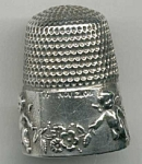 Simons Sterling Silver 1905 Thimble Cupid & Garlands