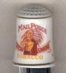 Mail Pouch Tobacco Thimble Franklin Mint