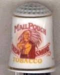 Mail Pouch Tobacco Country Store Thimble Franklin
