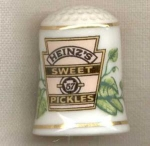 Heinz Pickles Country Store Thimble Franklin Mint