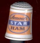 Armour's Star Ham Thimble Franklin Mint