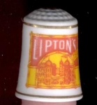 Lipton Tea Country Store Thimble Franklin Mint